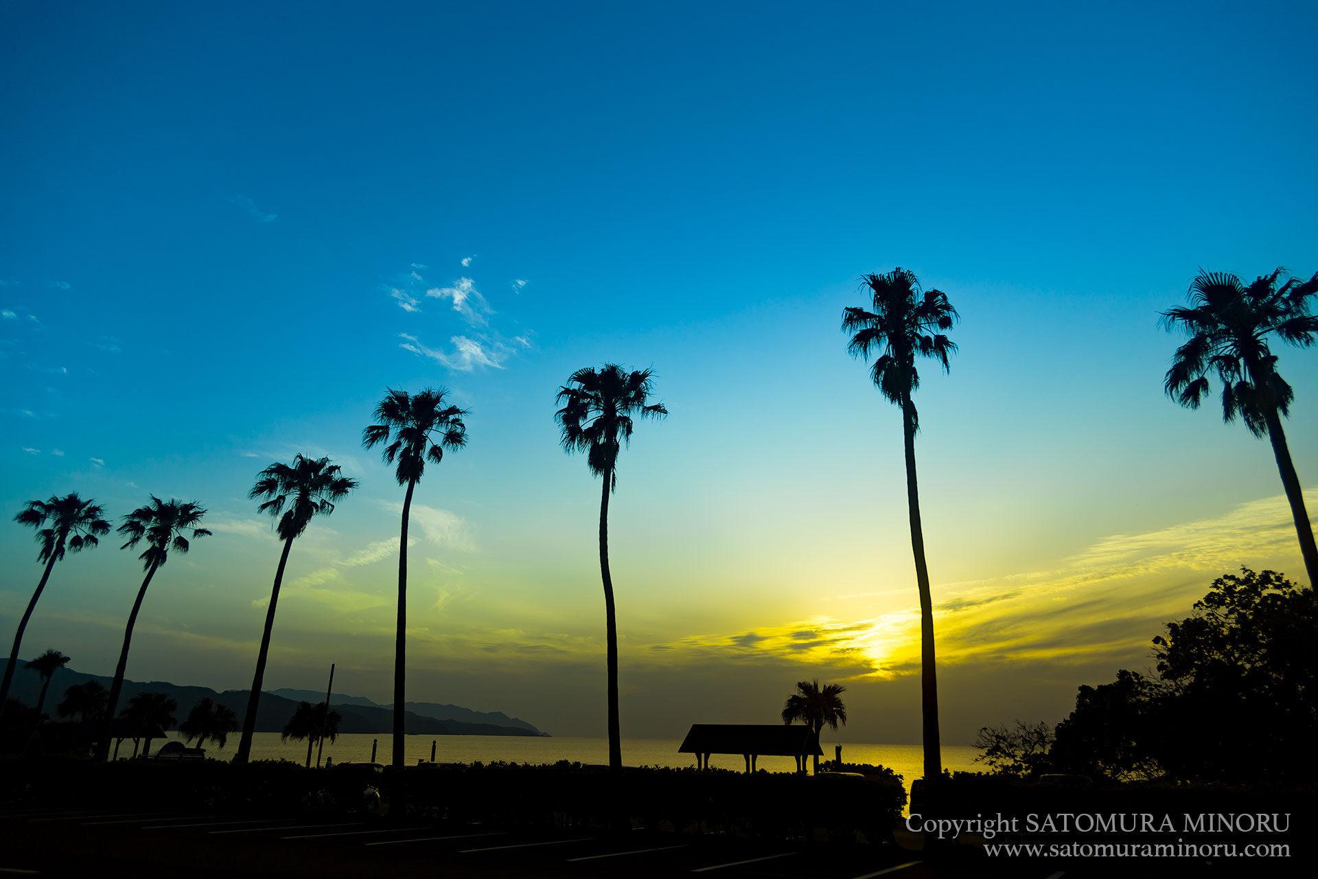 大浜海浜公園の夕日