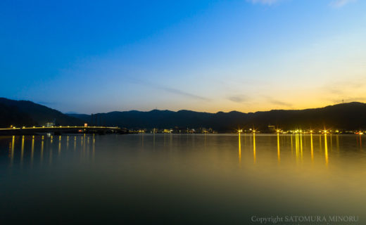 奄美大島名瀬の夕景
