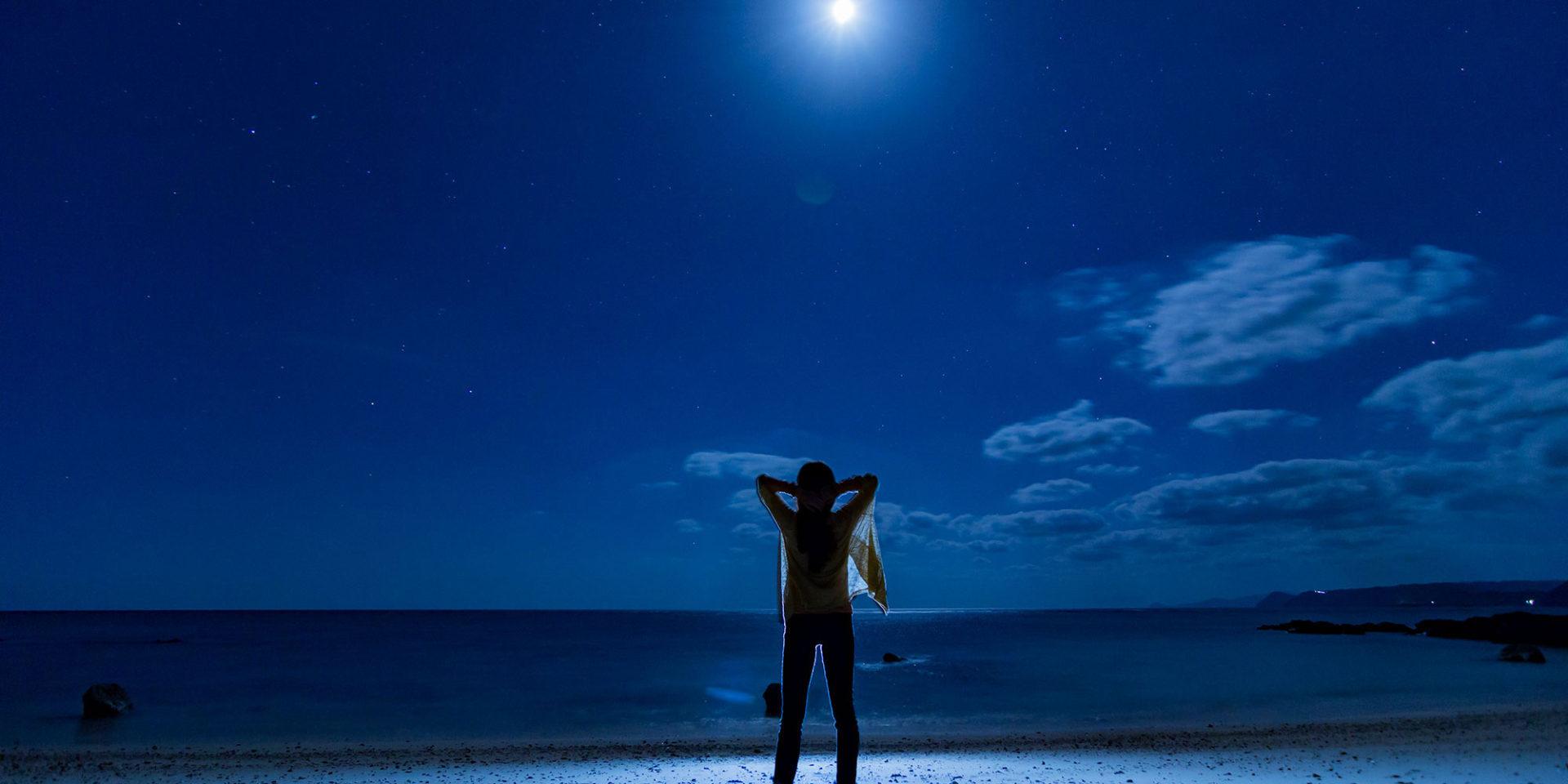 あなたは、月の光。僕の人生のすべての夜の。