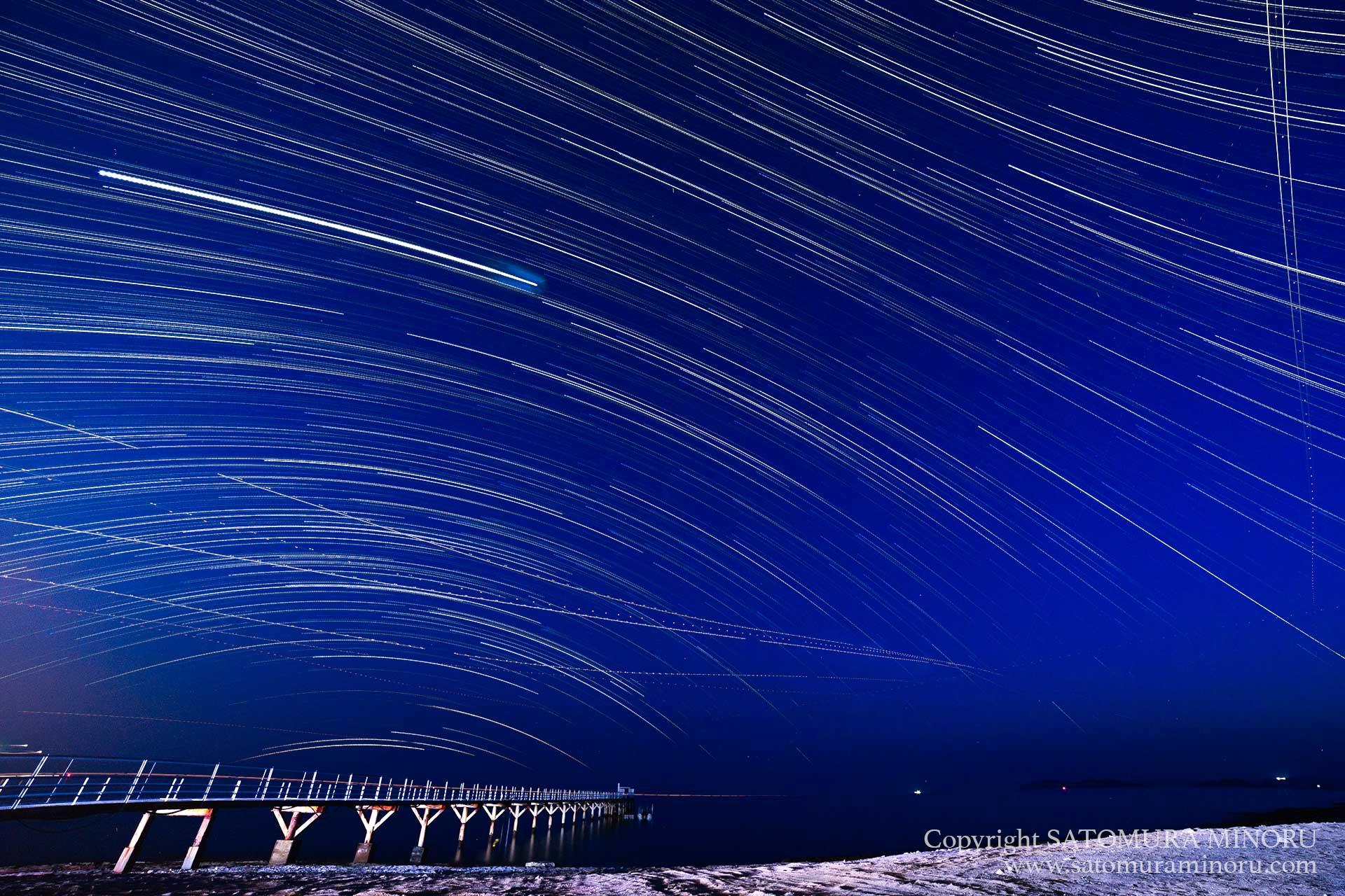 沖縄ツアー2日目の夜 無人島の星空