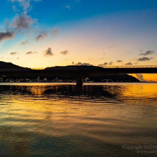 奄美市三角浜の夕日